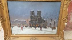 Painting of Berkes Antal oil on canvas, Notre Dame