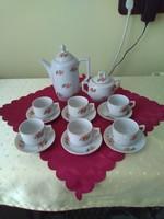 Incomplete zsolnay iris porcelain cluj-Napoca coffee set.
