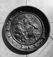 II. Cast iron wall bowl, plate 40.5 cm