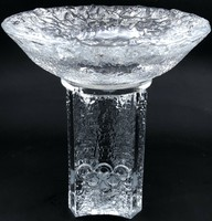 Orrefors candle holder, Olympic torch shape 1984 is a product of the world-famous Swedish glass manufactory.