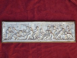Silver-plated bronze plaque from the end of the 19th century, which is gustav grohe (1829-1906)
