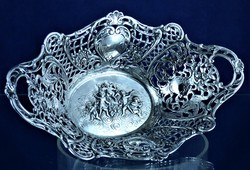 Beautiful, antique, silver offering, ca. 1890 !!!