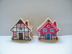 Vintage mini faházikók, Piroska és a farkas, Hófehérke és a hét törpe lakóikkal együtt (Sevi Toy)