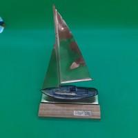Copper sailing ship in memory of Lake Balaton