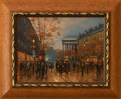 Szert's oil painting entitled Charles - Paris Street, with a certificate of originality, with a buy-back guarantee!