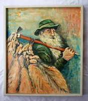Painting by Swiss painter Robert Ottiger