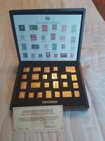 Aranyozott 925 ös finomságú ezüst bélyegek. Certifikált 406 g