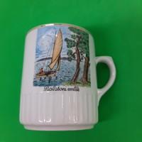 Zsolnay porcelain Balaton commemorative mug