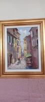 Tamás Mág (1952-2019) oil painting