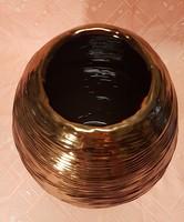 VIDÁM, DUCI 37 cm magas 23 cm széles váza, aranyosan, barnán csillogó!