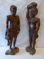 Régi afrikai szobor  / 64 cm.