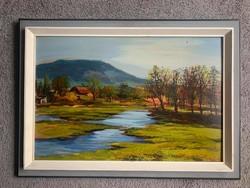 József Palicz spring landscape c. Painting