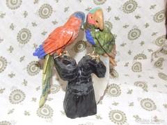 Különleges Perui ásvány papagájok ,dísztárgy