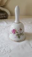 Rózsás,virágos porcelán csengő,csengettyű