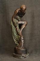Bronze statue of Sigismund Kisfaludi strobl - the lizard, certificate of originality, buy-back guarantee