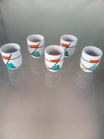 Rare collector breathes rye janka budapest porcelain drink set