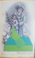 Paul Deim - Christmas card 13.5 X 8.5 Cm collage, paper 1986