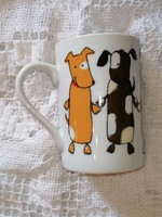Dancing puppies with fairytale mug and cup for kids