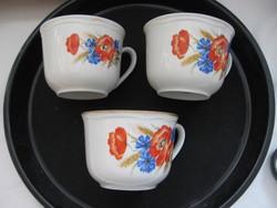 3 pcs retro poppy wilhelmsburg cups
