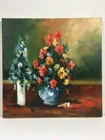 István Károlyi: flower still life, oil painting
