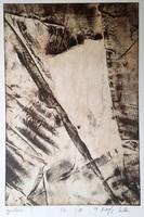 Csilla Kőszeghy - creases 30 x 20 cm etching