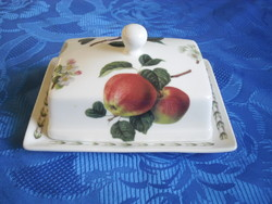 Butter holder with fruit pattern