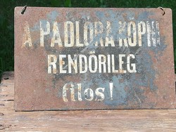 Old painted iron plate
