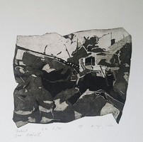 Csilla Kőszeghy - accident 14 x 19 cm etching