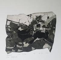 Kőszeghy Csilla - Baleset 14 x 19 cm rézkarc