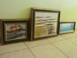 Picture frames made of wood 3 sizes identical frame