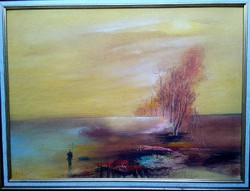 György Csuta: landscape oil painting