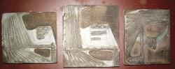 3 Old tin applied to wood tin?