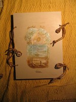 Visual verse album with a pictorial book cover. Gift for anniversary, doctor, art lovers.