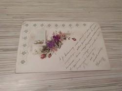 Antik Üdvözlő képeslap. Dombornyomott.