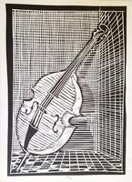 Linoleum section 30 x 21 cm