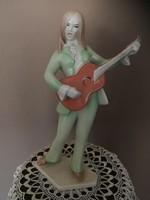 Aquincum porcelán retro gitáros lány!