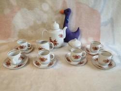 21181A1 Henneberg Ilmenau német porcelán kávéskészlet