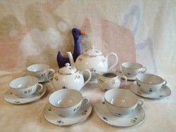 21181A5 antique zsolnay porcelain shield stamp tea set