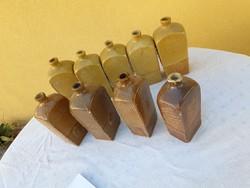 Ceramics, brandy butelia for sale! 9 pcs for sale!