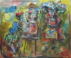 Ernő Tóth - painter and model 50 x 60 cm oil on canvas 2004
