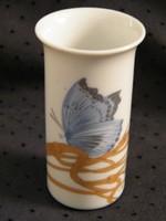 Nagyon szép pillangós kék-arany Rosenthal mini váza