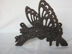 Retro ... Vintage cast iron butterfly butterfly garden hose holder watering hose holder