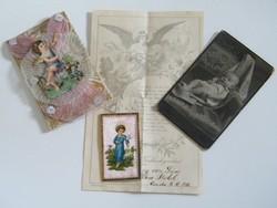 Nagyon szép ajándék német nyelvű keresztlevél, hozzá tartozó fényképpel ( szecessziós 1910)