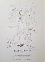 Kass János kiállítási plakát 64 x 46 cm