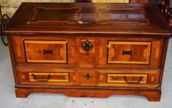 Antique, inlaid chest.