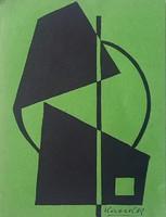 Kassák Lajos - 25 x 19 cm litográfia cca 1963
