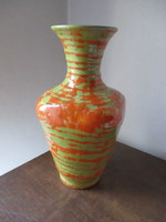 Rare beautiful cucumber vase in flawless marked condition 23.5 cm tall