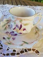 Art Nouveau iris coffee cups