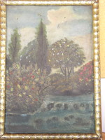 Picture of unknown oil landscape approx. 30X25 cm