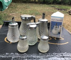 7-piece pouring set, salt-pepper holder